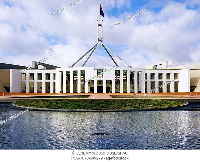 Entrance to Australian Parliament Building