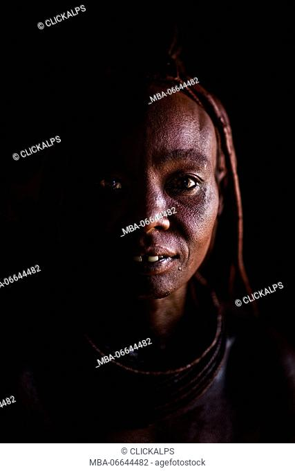 Himba girl from a village in Northern Namibia, near Epupa falls