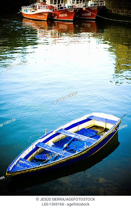 Boats in Viavelez, Asturias, Spain