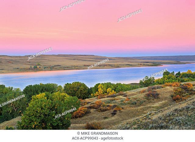Hills along the South Saskatchewan River Saskatchewan Landing Provincial Park Saskatchewan Canada