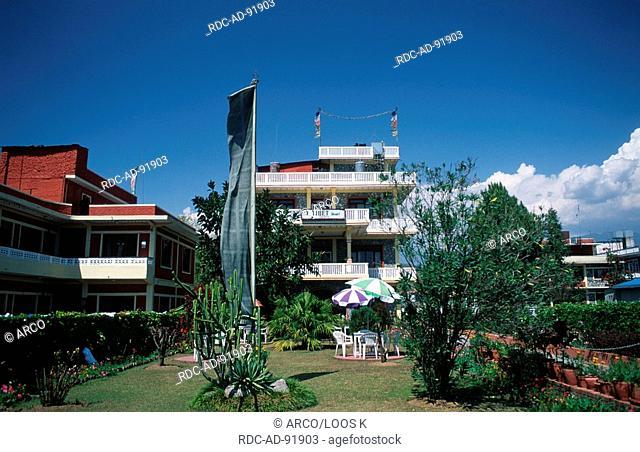 Garden of Hotel 'Tibet', Pokhara, Nepal