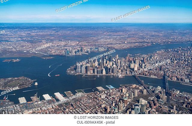 Aerial view of Manhattan, New York, USA