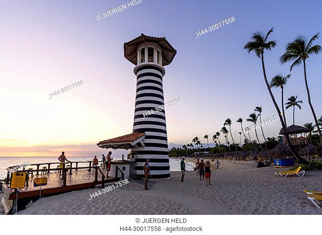 Dominican Republic, Playa Dominicus, The Lighthouse Beach Bar, sunset, Iberostar Hacienda Dominicus, La Romana, Dom Rep