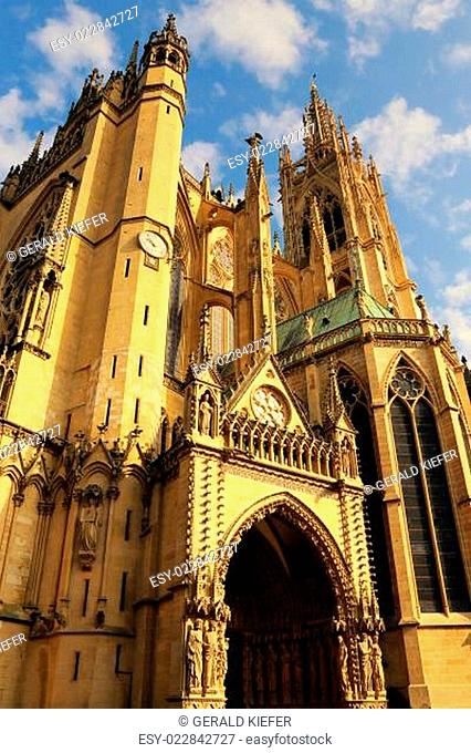 Die Kathedrale Saint-Étienne in Metz