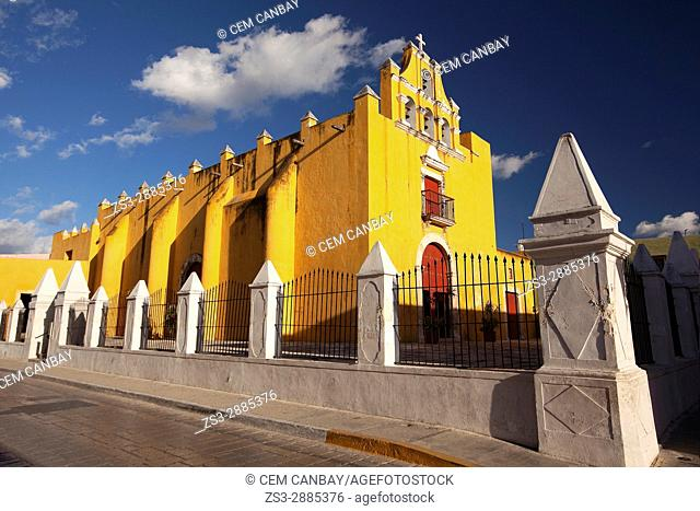 Temple Of The Sweet Name Of Jesus-Templo Del Dulce Nombre De Jesus in the city center, Campeche, Campeche State, Yucatan Province , Mexico, Central America