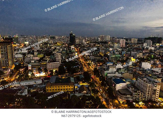 Overview of the skyline, Ho Chi Minh City (Saigon), the largest city in Vietnam