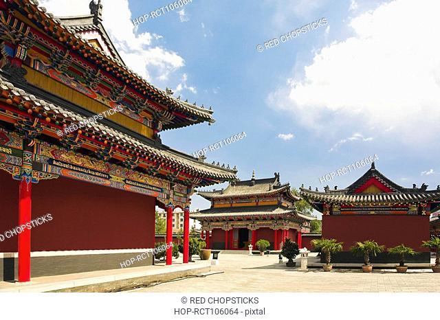 Low angle view of pagodas, Five Pagoda Temple, Hohhot, Inner Mongolia, China