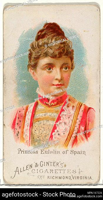 Princess Eulalia of Spain, from World's Beauties, Series 1 (N26) for Allen & Ginter Cigarettes. Publisher: Allen & Ginter (American, Richmond