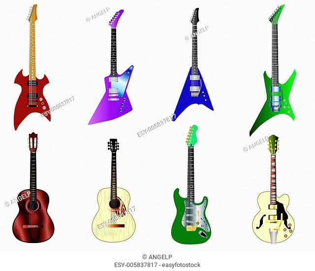 color guitars set
