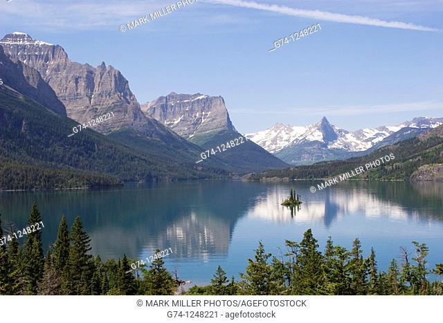 Saint Mary Lake Glacier National Park USA