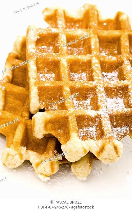 Close-up of waffles