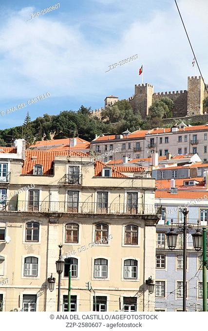 Saint George castle on the mountain Lisbon Portugal