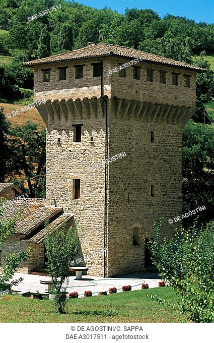 Tower of St Angelo Castle, Citerna, Umbria, Italy