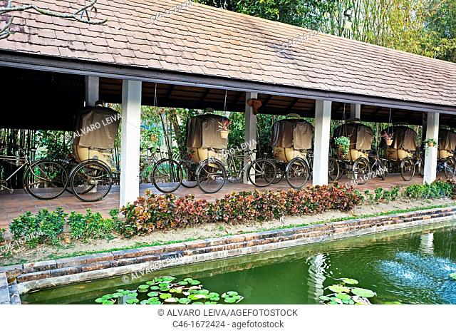 Rickshaws, The Legend hotel, Chiang Rai Province, Thailand