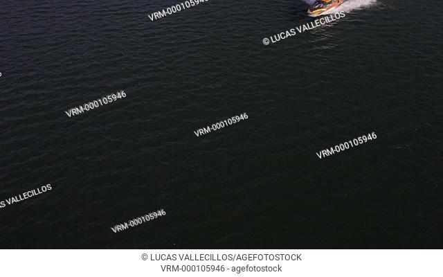 Boat in Kawaguchi Lake,Kawaguchiko,Yamanashi prefecture, Japan