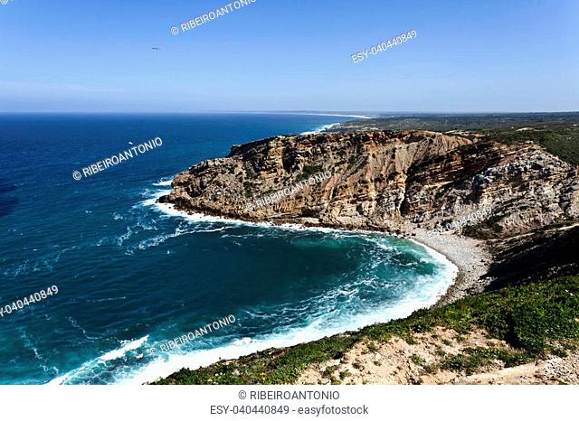 Cape Espichel is a historic place and mark near Sesimbra in Portugal name as barbaric Promontory by the Romans