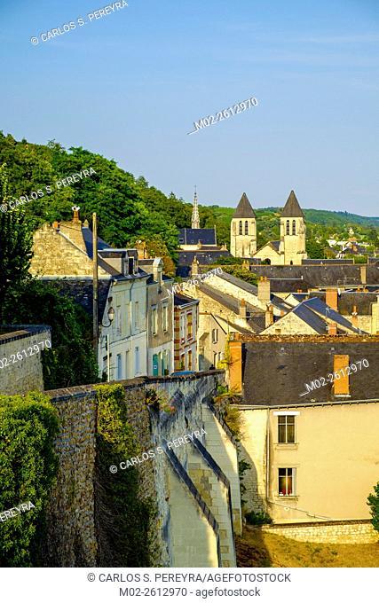 Chinon village, Indre-et-Loire, Loire Valley, France, Europe