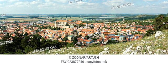 wide panorama of Mikulov