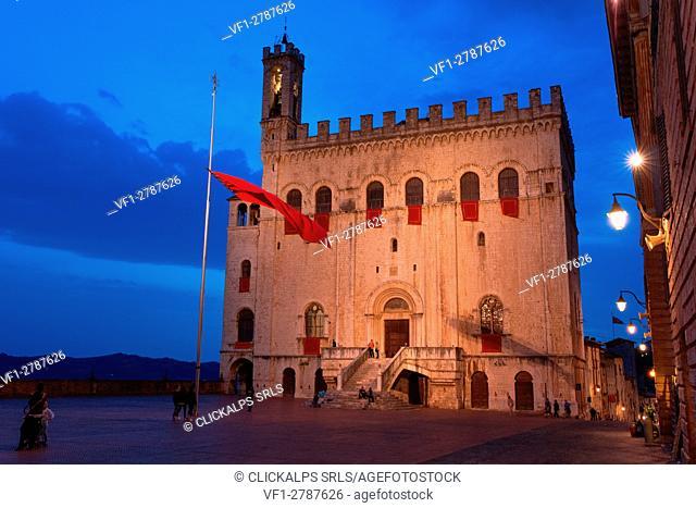 Italy, Perugia district, Gubbio. Palazzo dei Consoli