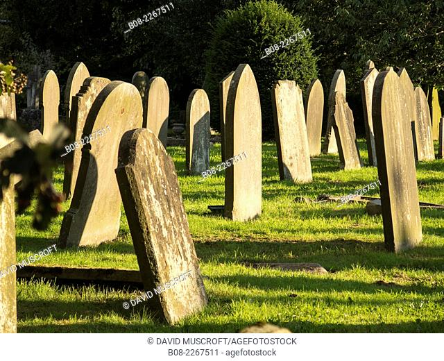 St peters Church yard and graves at Hope,derbyshire,uk
