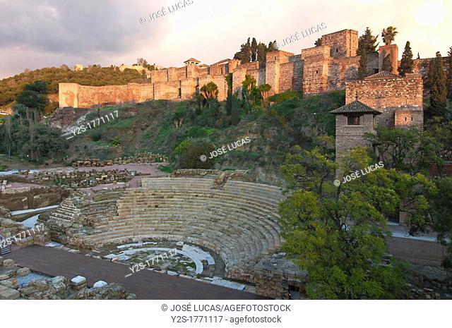 Roman theater and Alcazaba, Malaga, Spain
