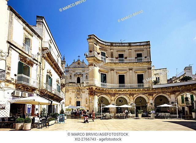 Piazza Plebiscito (Plebiscito Square) and Basilica di San Martino in Martina Franca. Martina Franca is a municipality in the province of Taranto