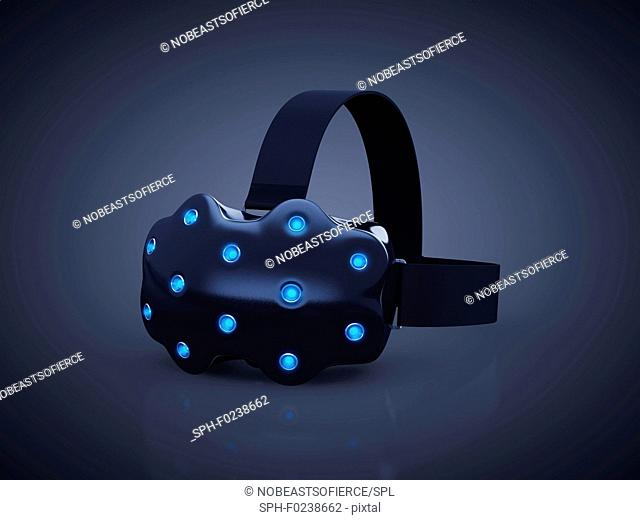 Virtual reality headset, illustration
