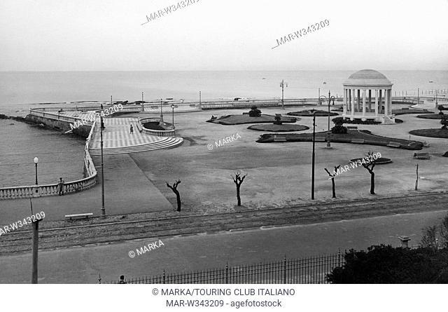 tuscany, livorno, terrace view costanzo ciano now terrace mascagni, 1930