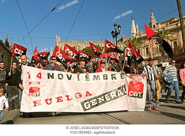 General strike, November 14, 2012, Seville, Spain