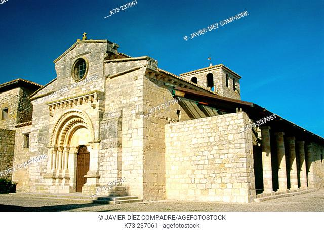 Romanesque church of Santa María (12th century). Wamba. Valladolid province. Spain