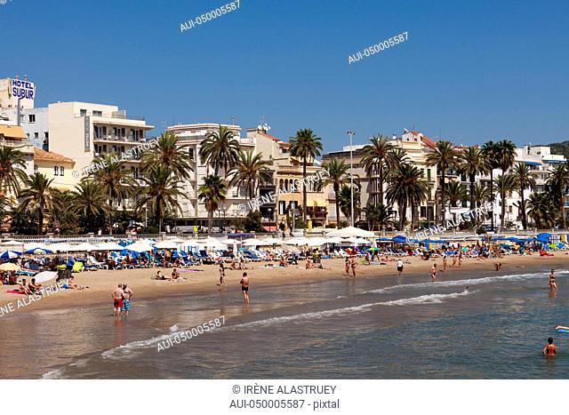 Spain - Costa Brava - Sitges - Main beach