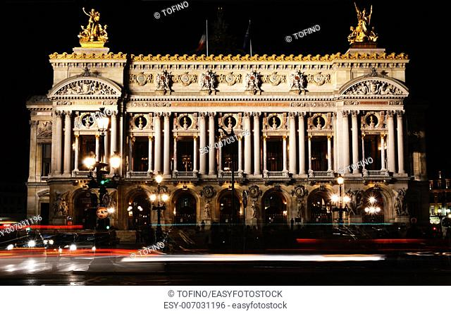 Academie Nationale de Musique, Palais Garnier in Paris. Opera