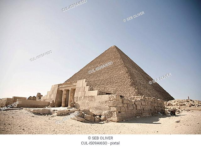 Entrance at the great pyramid of Giza, Egypt, North Africa