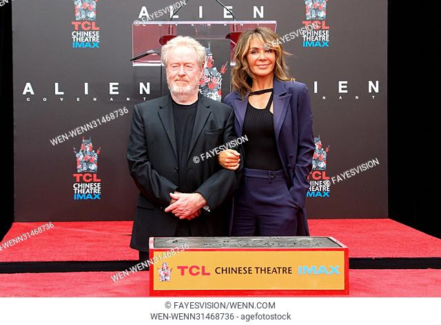 Sir Ridley Scott Hand and Footprint Ceremony Featuring: Sir Ridley Scott, Giannina Facio Where: Hollywood, California, United States When: 18 May 2017 Credit:...