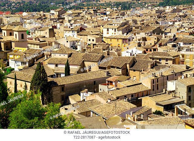 Caravaca de la Cruz (Murcia) Spain. Roofs of the Village of Caravaca de la Cruz