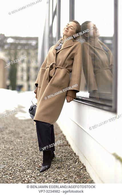 fashionable woman, in Munich, Germany