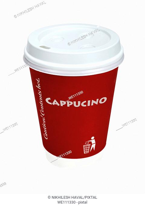 Takeaway cappucino cup