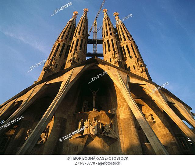 Sagrada Familia temple by Gaudi. Barcelona, Spain