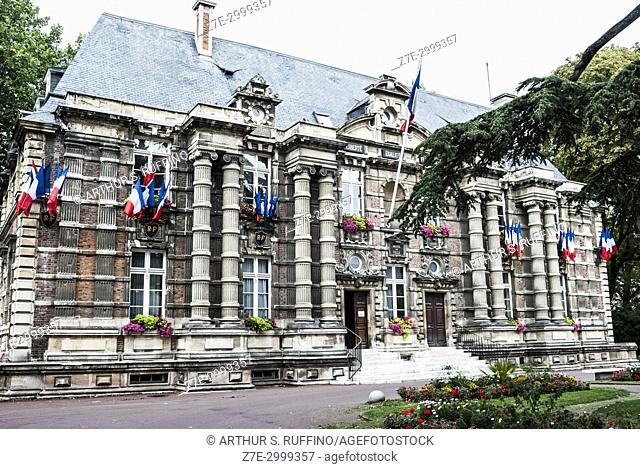 City Hall (Hôtel de Ville), ancient castle (1636-1953) (ancien chteau). Harfleur, Seine-Maritime Department, Normandy Region, France, Europe