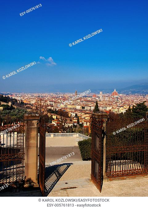 View of Florence from Baslica di San Salvatore al Monte, Tuscany, Italy