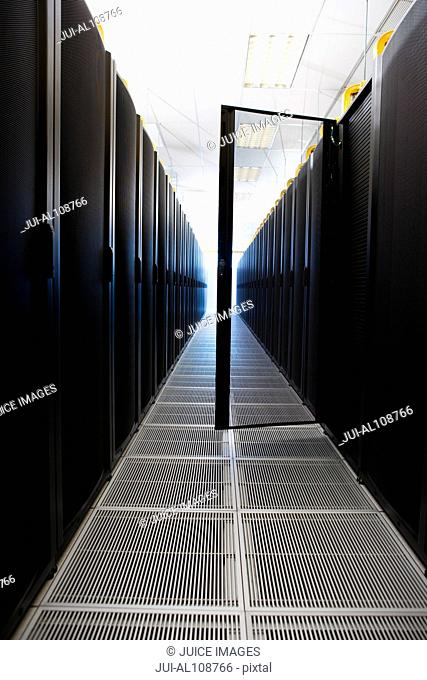 Interior of server room in Cape Town, South Africa