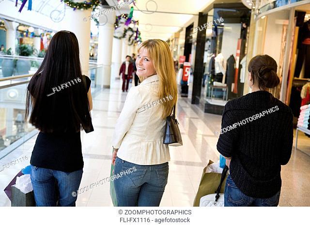 Girlfriends in Shopping Mall