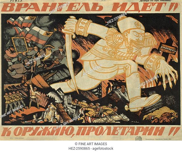 Wrangel advances! Proletarians to arms!, 1920. Found in the collection of the Russian State Library, Moscow