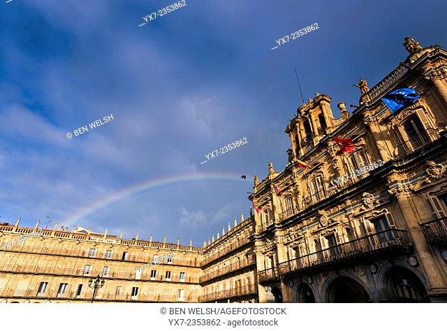 Town Hall, Plaza Mayor, Salamanca, Spain, Europe