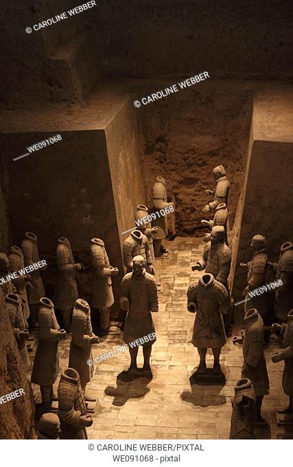 Terra Cotta Warriors in Pit 3, Xi'an