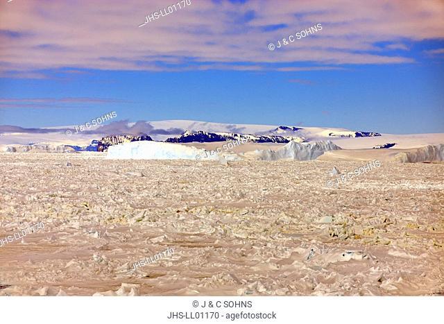 Pack Ice, Antarctica, Weddell Sea, in summer