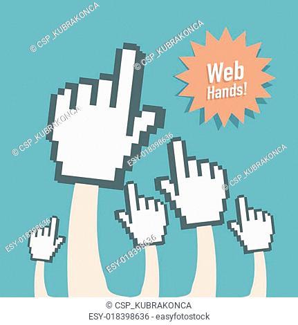 Web Hand Gloves Concept