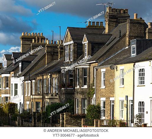 Victorian Terraced houses on Huntingdon Road, Cambridge, UK