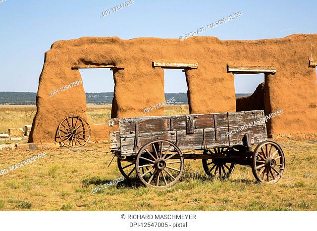 Ruins of the Transportation Corral, Fort Union National Monument; New Mexico, United States of America