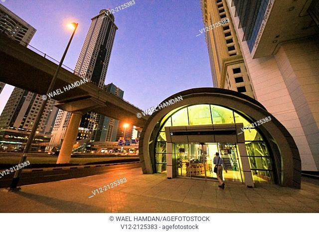Sheik Zayed street, Dubai city, Metro Station, Dubai, United Arab Emirates, Middle East
